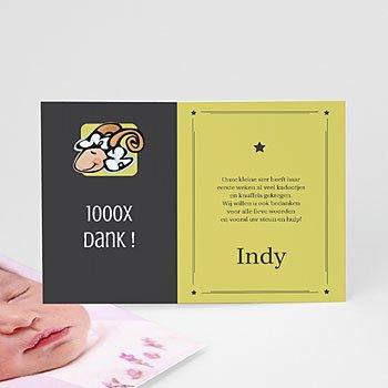 Bedankkaartje geboorte dochter - Indy de ram - 1
