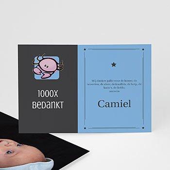 Bedankkaartje geboorte dochter - dierenriem - 1