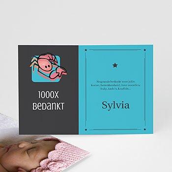 Bedankkaartje geboorte dochter - sterrenbeeld schorpioen - 1