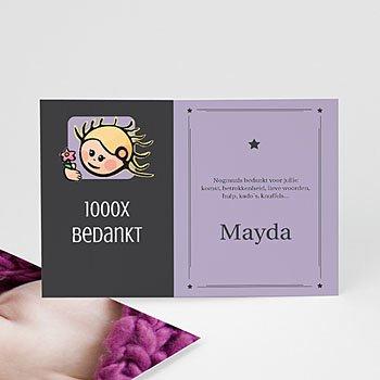 Bedankkaartje geboorte dochter - sterrenbeeld maagd - 1