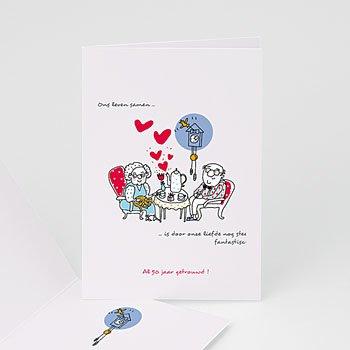 Jubileumkaarten huwelijk - 50 jaar liefde - 1