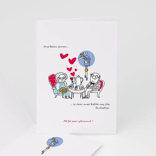 liefde is 50 jaar Jubileumkaarten huwelijk   50 jaar liefde | Zokaartjes.com liefde is 50 jaar