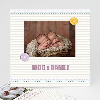 Bedankkaartje geboorte tweelingen - Kindermaatje - 1
