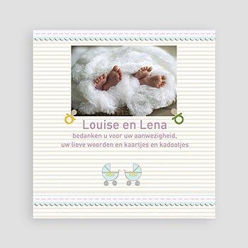 Bedankkaartje geboorte tweelingen - Kindermaatje - 2