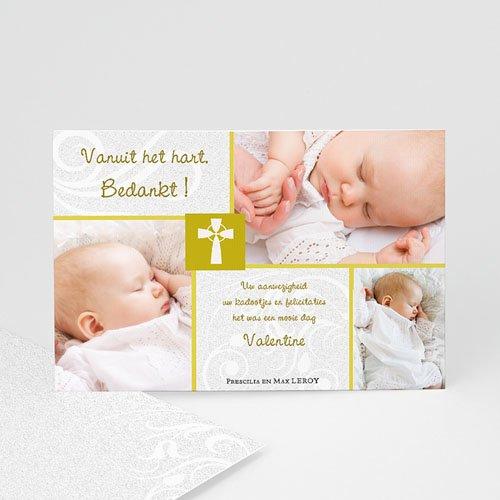 Bedankkaart doopviering jongen - Heilig Vormsel - 17478 thumb