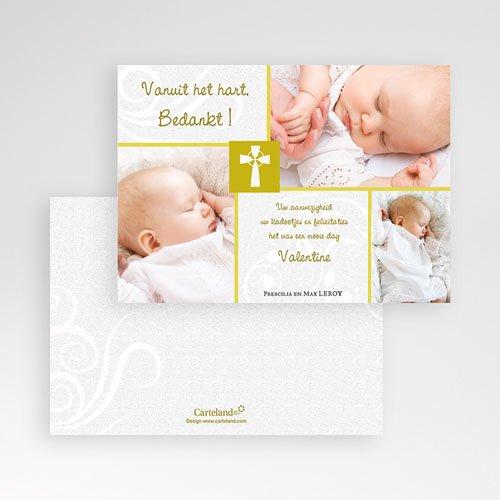 Bedankkaart doopviering jongen - Heilig Vormsel - 17479 thumb