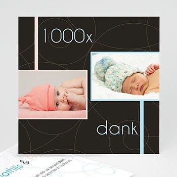 Bedankkaartje geboorte tweelingen - Ultra-chic en puur - 1