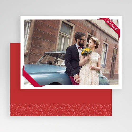 Fotokaart, 1 eigen foto rood lint fotokaart 4259 gratuit