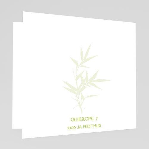 Originele Trouwkaarten Bamboe huwelijk gratuit