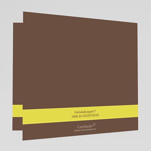 Natuur - Bruin en geel kaartje 17618 thumb