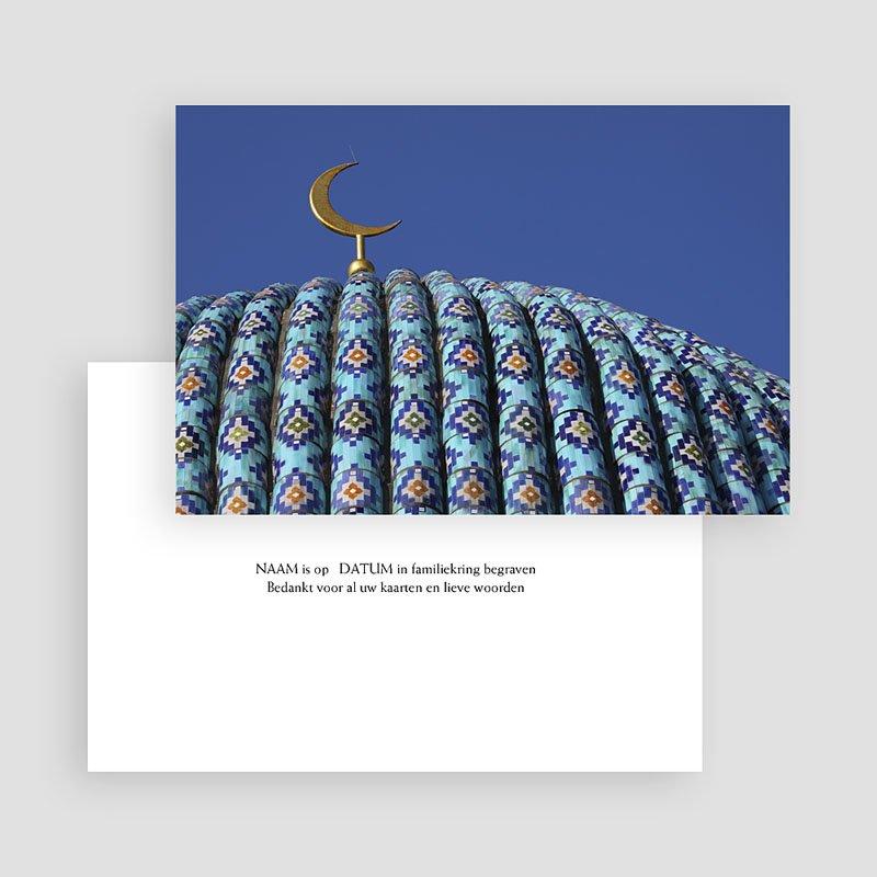 Bedankkaarten overlijden, Islamistisch - Moskee 17654 thumb