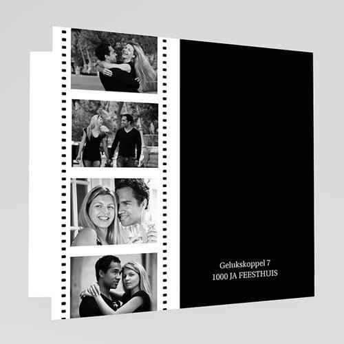 Trouwkaarten met foto - Op de film 17730 thumb