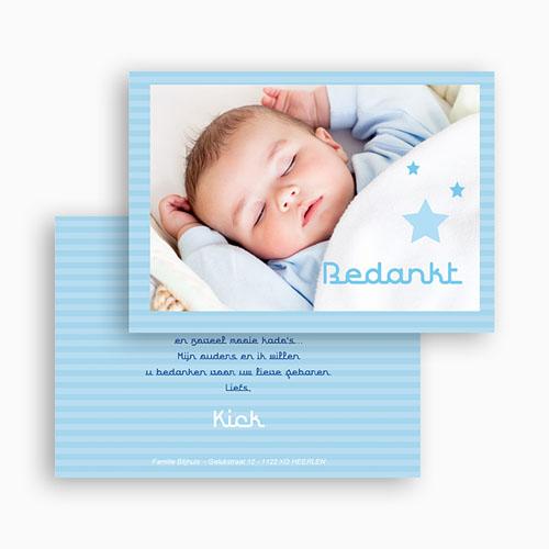 Bedankkaartje geboorte zoon - Tussen de sterren 17752 thumb