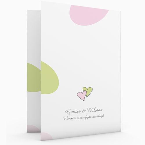 Personaliseerbare menukaarten huwelijk Speelse liefde gratuit