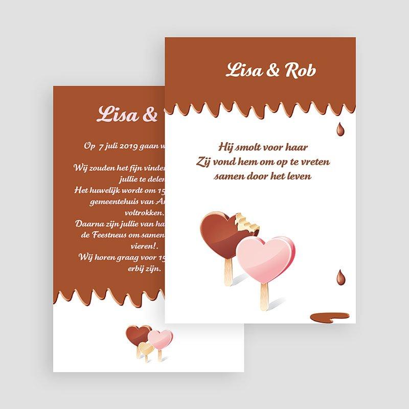 Trouwkaarten zonder Foto Gesmolten chocolade gratuit