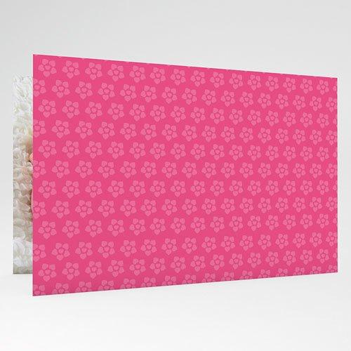 Geboortekaartjes Meisje Roze bloemmotief gratuit