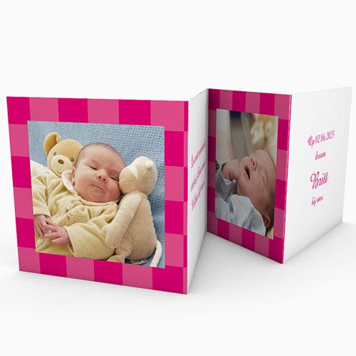 Geboortekaartjes Meisje Roze zonnetje gratuit