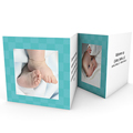 Geboortekaartje meisje - Azuurblauw zonnetje 18057 thumb