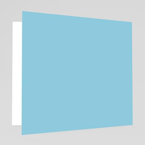 Geboortekaartje jongen - Blauwe klavertjes vier 18152 thumb