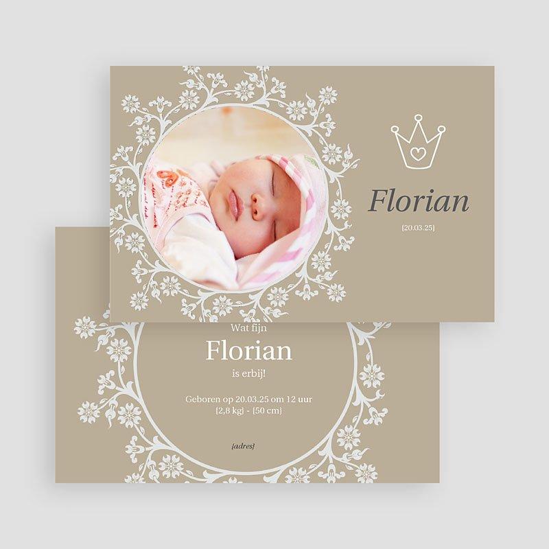 Geboortekaartje meisje - Vorstelijk kaartje 18168 thumb