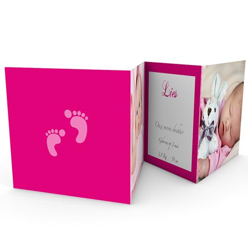 Geboortekaartje meisje - Ze laat haar eerste sporen na 18238 thumb