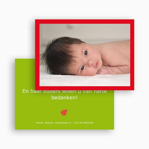 Bedankkaartje geboorte dochter - Lentegroen 18239 thumb