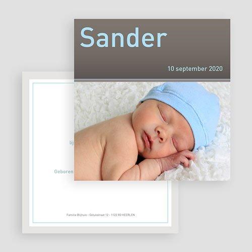 Geboortekaartjes Jongen Strak omlijst gratuit