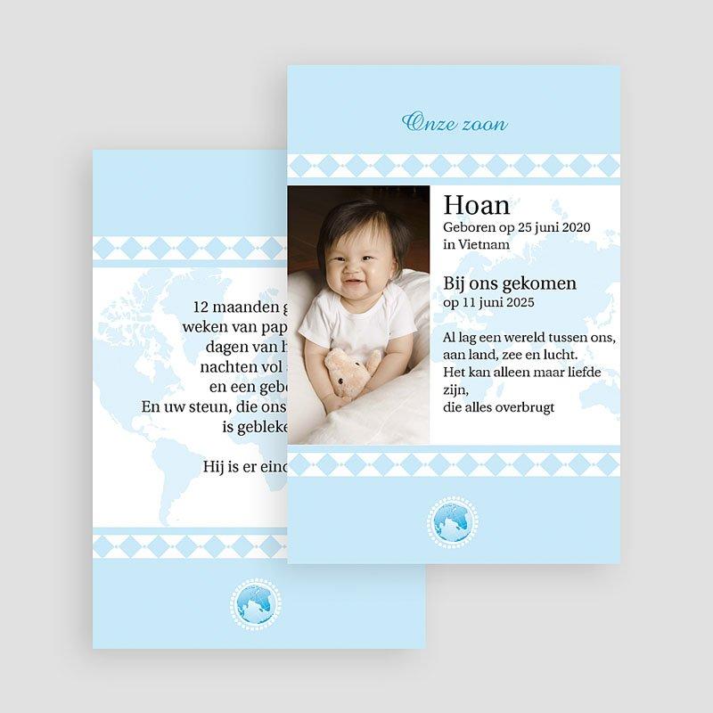 Adoptiekaartjes voor Jongens geadopteerd zoontje gratuit