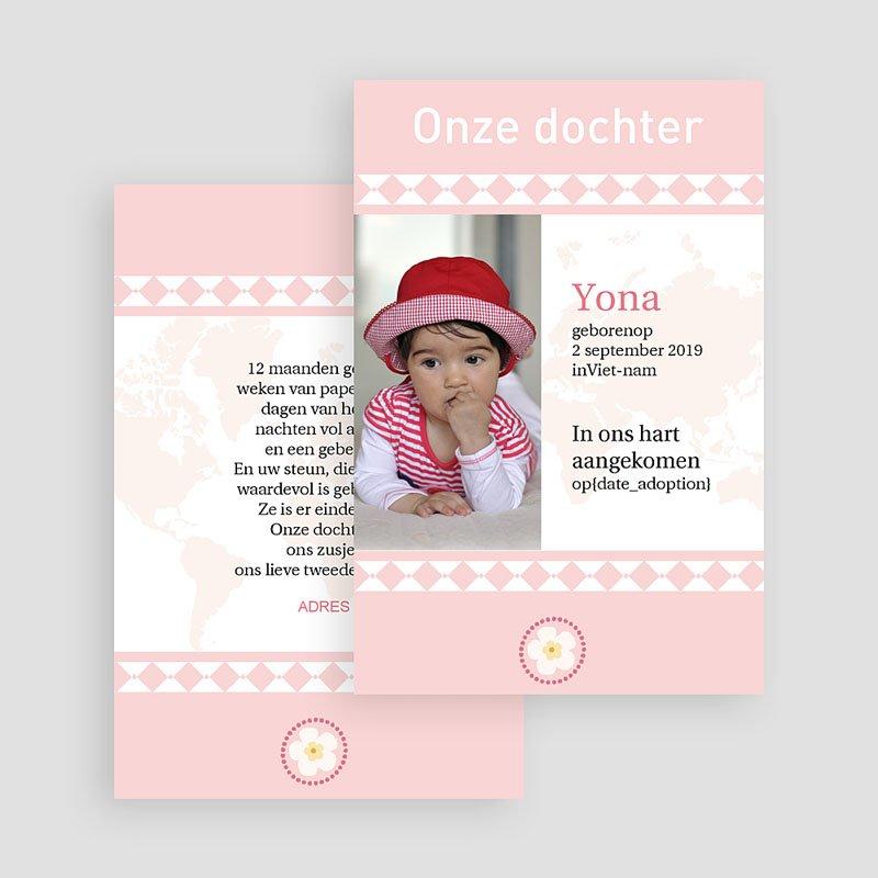 Adoptiekaartjes voor Meisjes Oneindig roze gratuit