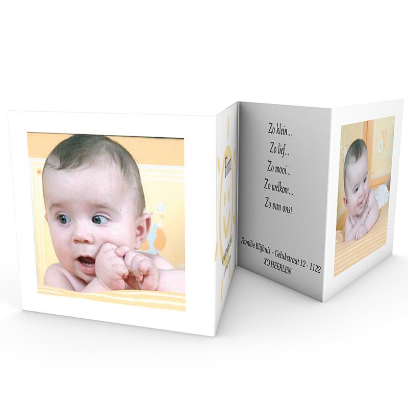 Geboortekaartje meisje - Open album 18325 thumb