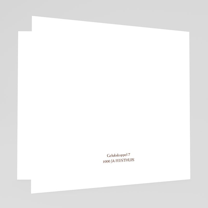 Trouwkaarten - Pastel choco 18404 thumb