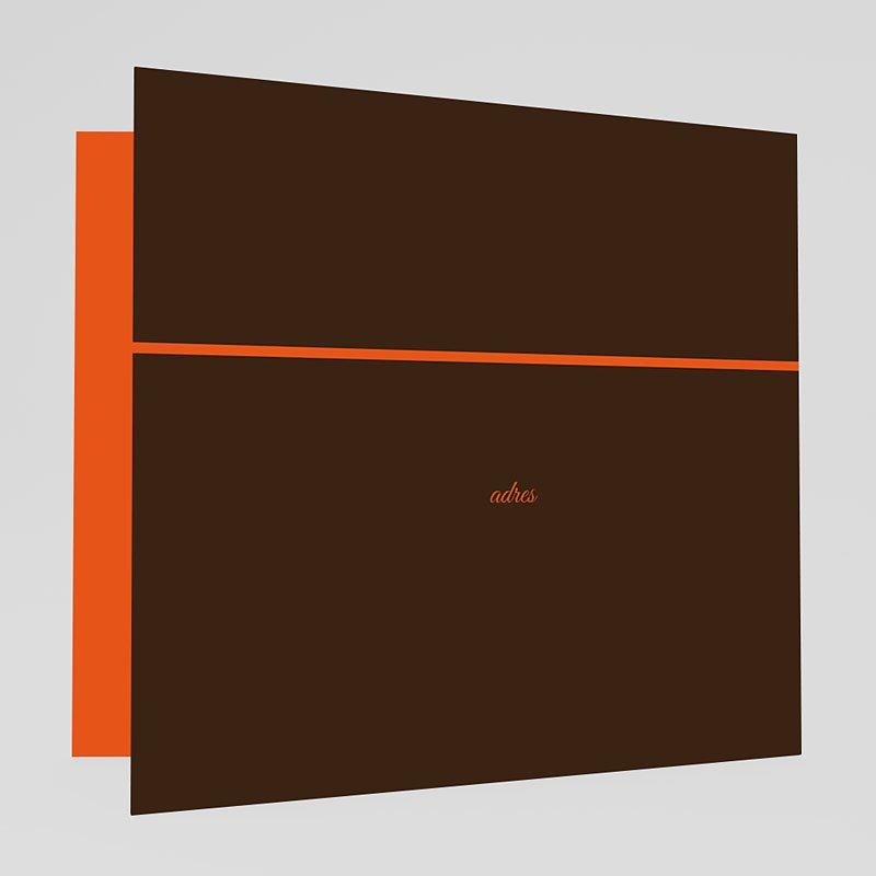 Oranje Trouwkaarten Bruin en oranje klavertjes vier gratuit