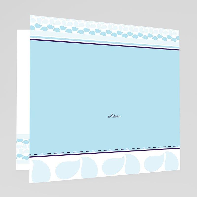 Doopkaartje meisje - Hemels blauw 18512 thumb
