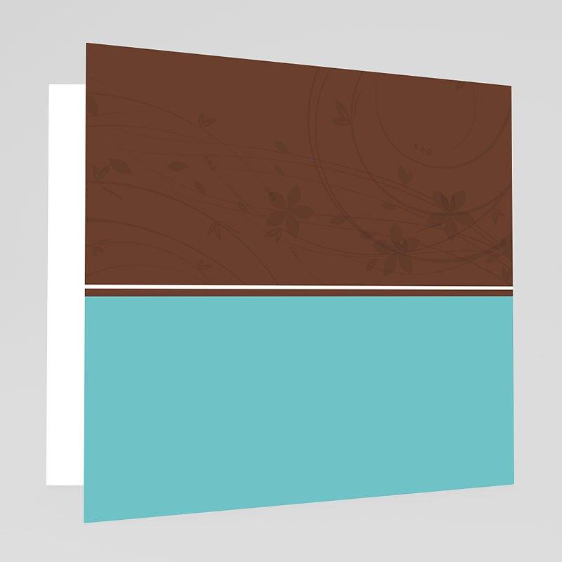 Trouwkaarten met Foto Turquoise en chocolade gratuit