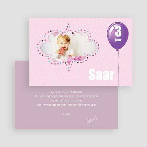 Uitnodigingen Verjaardag Jongen Confetti roze gratuit