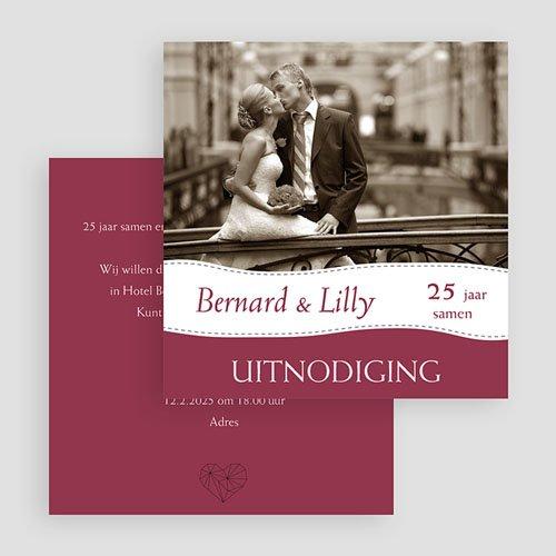 Jubileumkaarten huwelijk Bruiloftskaartje met foto gratuit