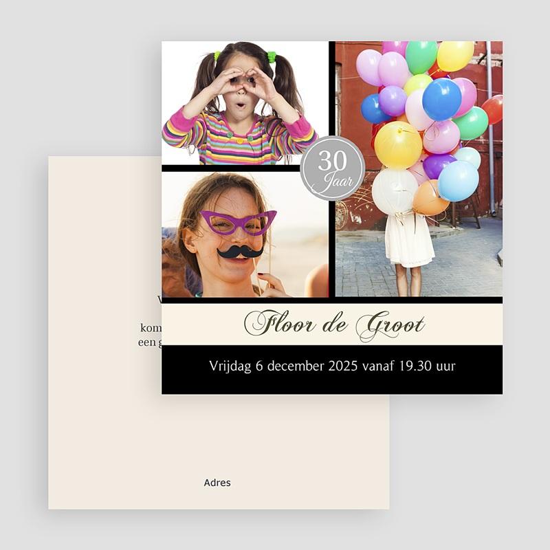 Meerderjarig Uitnodigingen Verjaardag Verjaardagskaart in stijl gratuit
