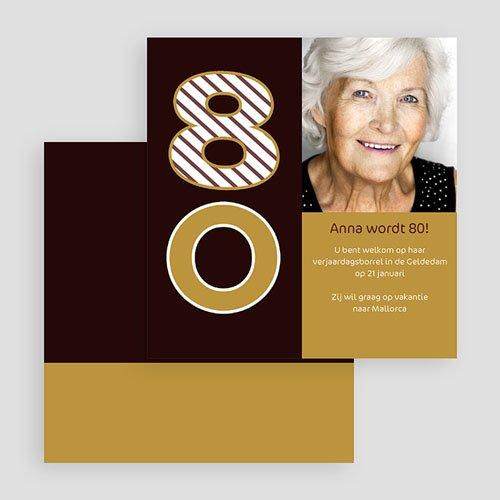 Meerderjarig Uitnodigingen Verjaardag Van harte, 80 jarige gratuit