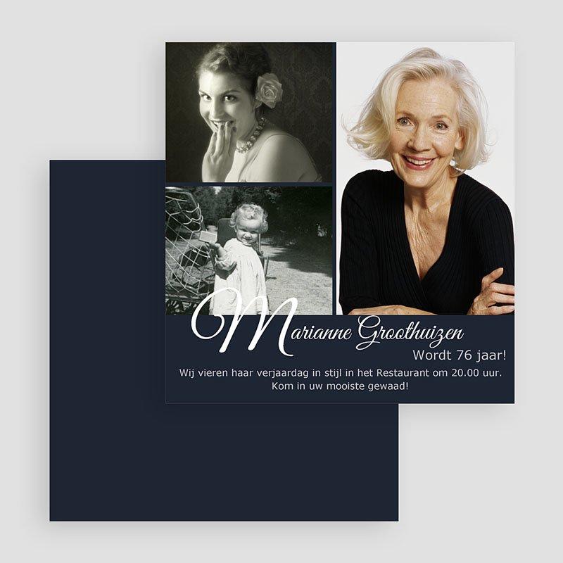 Meerderjarig Uitnodigingen Verjaardag Elegante uitnodiging gratuit