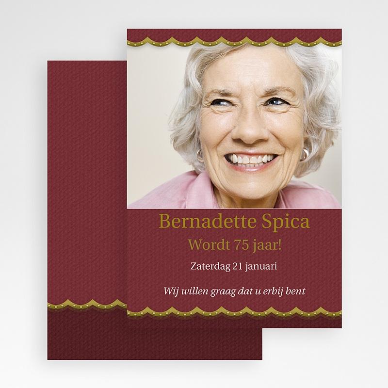 Verjaardagskaarten volwassenen Oud roze met goud gratuit