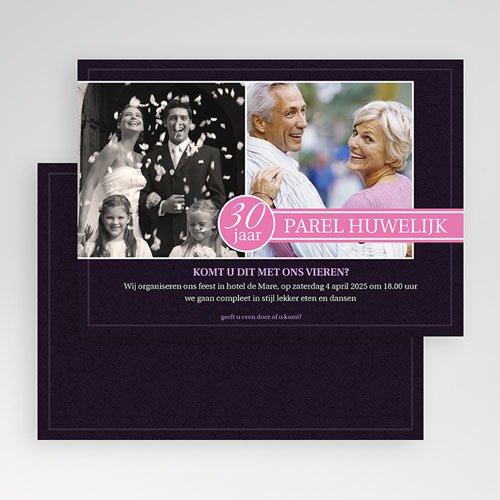 Bruiloft Uitnodigingen Verjaardag Roze lilla gratuit