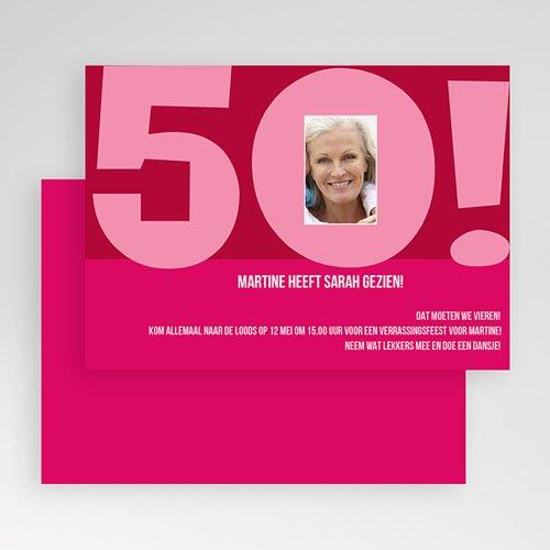 Meerderjarig Uitnodigingen Verjaardag Club 50 gratuit