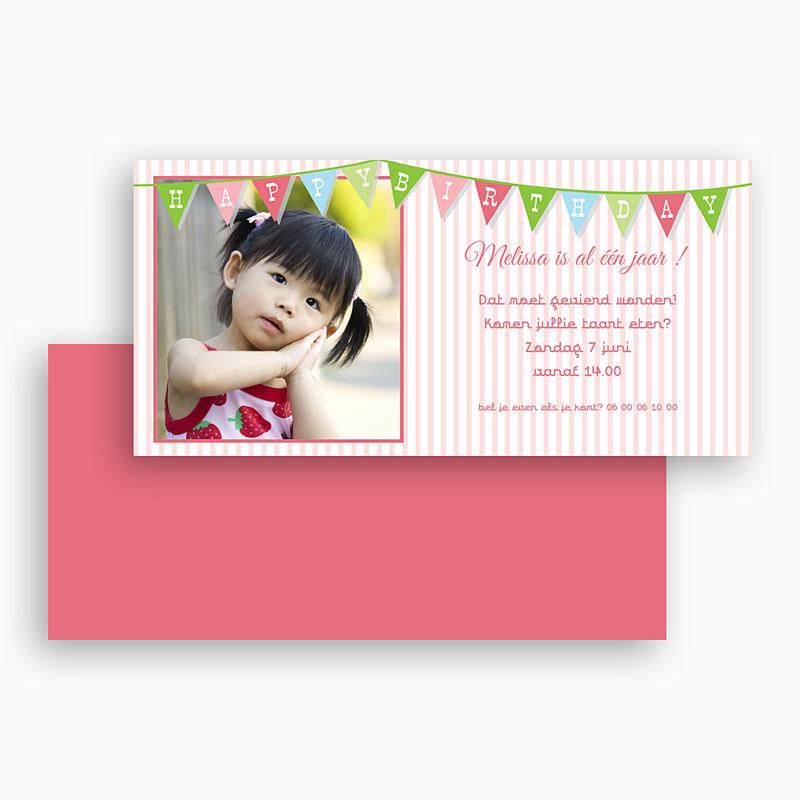 Verjaardagskaarten meisjes Vlaggetjes voor meisje gratuit