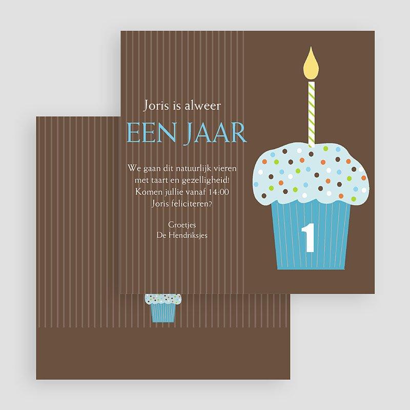 Uitnodigingen Verjaardag Jongen Chocolade met smurfmuffin gratuit