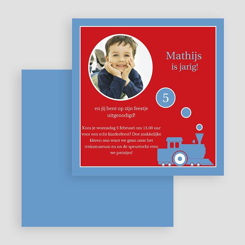 Uitnodigingen Verjaardag Jongen Droomtrein gratuit