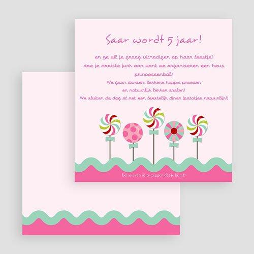 Verjaardagskaarten meisjes - Roze windmolentjes 18992 thumb