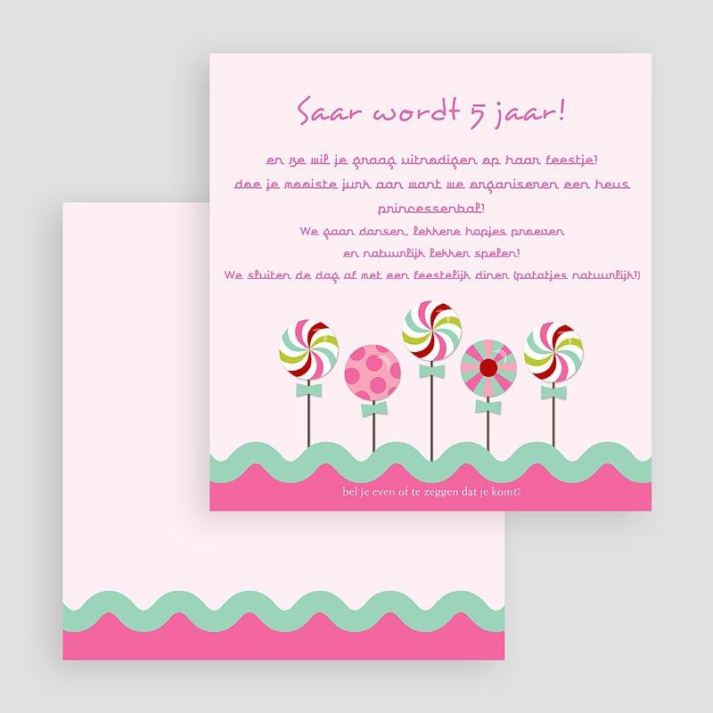 Uitnodigingen Verjaardag Meisjes Roze windmolentjes gratuit