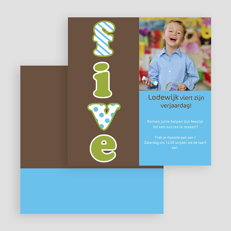 Uitnodigingen Verjaardag Jongen Vijf jaar, jongen gratuit