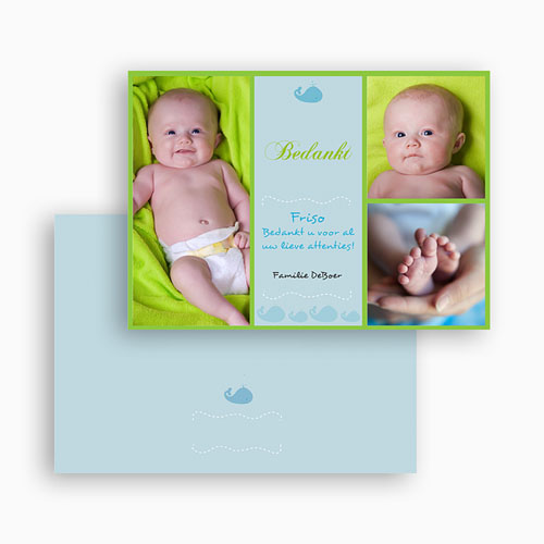 Bedankkaartje geboorte zoon - Lente-oogst, blauw 19080 thumb