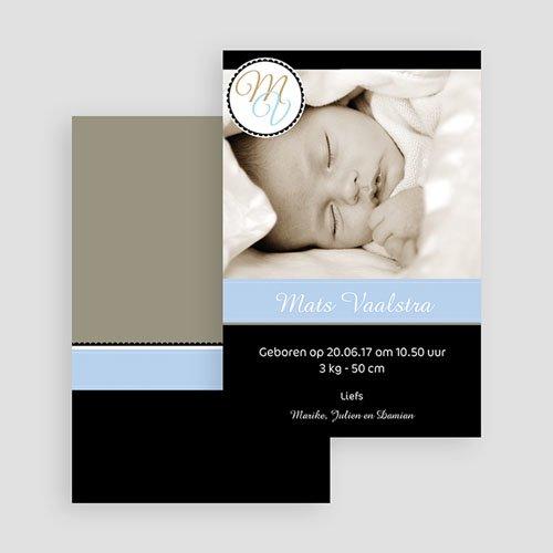 Geboortekaartje meisje - Diep mint blauw 19082 thumb